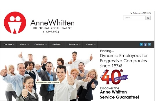 Anne Whitten Bilingual Recruitment gets a Face Lift and more!